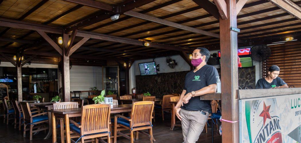 Suasana tempat wisata di Bali yang masih sepi - Bloomberg / Putu Sayoga