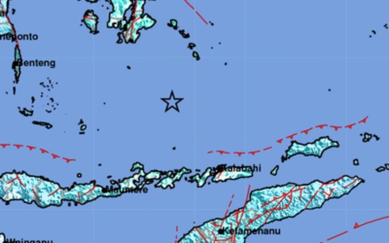 Gempadengan indikator sementara berkekuatan 6.9 terjadi diLaut Banda, tepatnya pada pukul 11:09:50 WIB,Jumat (21/8 - 2020).