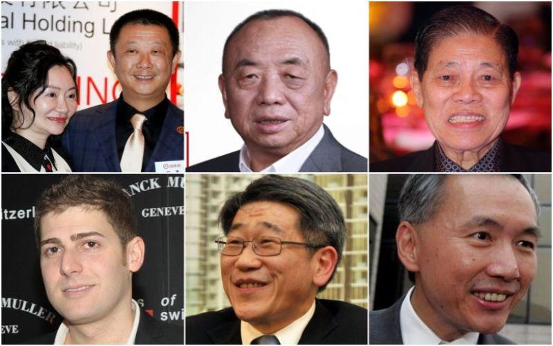 (Searah jarum jam dari kiri atas) Zhang Yong dan Shu Ping, Li Xiting, Goh Cheng Liang, Philip Ng, Robert Ng and Eduardo Saverin./TheStraitTimes, Reuter, Mindray - Facebook, Lianhe Zaobao, Forbes\n