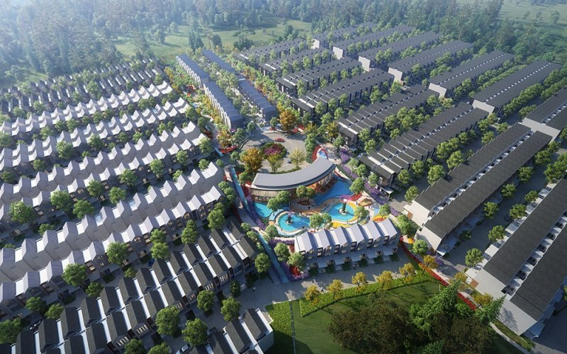 Rumah tapak yang dikembangkan PT Yiho Jakarta Real Estate Development di Cikupa, Tangerang, Banten. - Istimewa