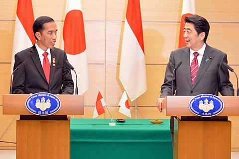 Presiden Joko Widodo dan PM  Jepang Shinzo Abe - Setpres/Laily