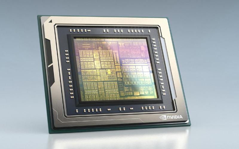 Chip Nvidia Orin yang digunakan untuk platform baru yang diluncurkan perusahaan pada Kamis yang dapat mendukung semuanya, mulai dari teknologi keselamatan berkendara hingga teknologi self-driving untuk robotaxis.  - NVINDIA