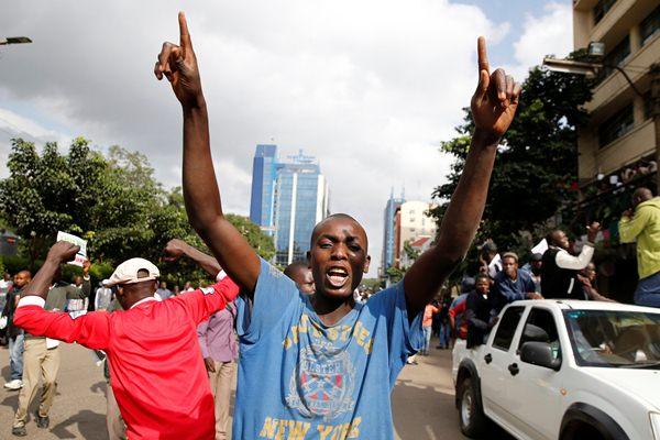 Aksi demonstrasi dari pihak oposisi Kenya - Reuters
