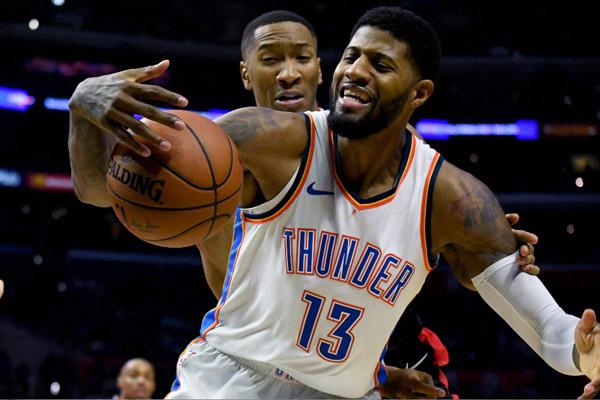 Bintang Oklahoma City Thunder, Paul George. - Reuters