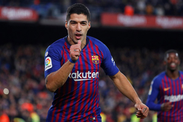 Striker FC Barcelona Luis Suarez - Reuters/Paul Hanna