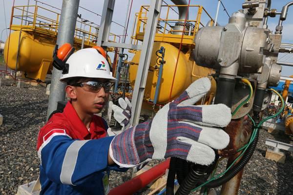 Ilustrasi fasilitas milik PT Pertamina Gas. - Antara/Irsan Mulyadi