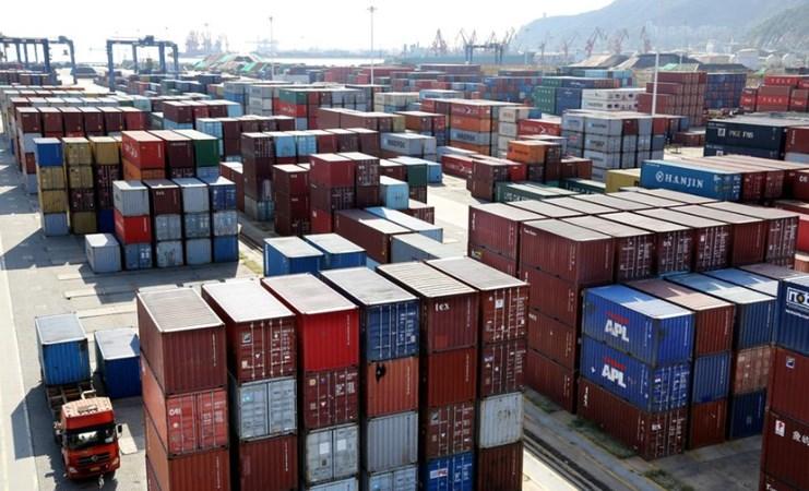 Suasana di Pelabuhan Lianyungang, Provinsi Jiangsu, China, 8 September 2018. - REUTERS/Stringer
