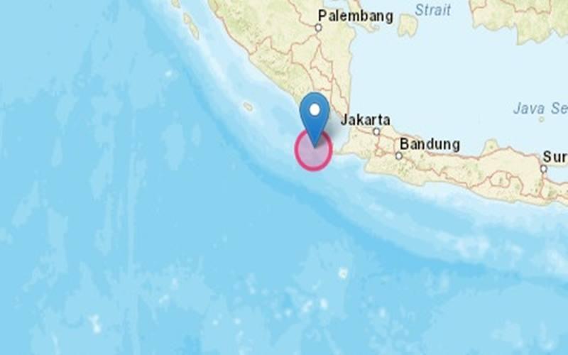 Gempa bumi M 5,3 guncang kawasan Sumur di Banten, Rabu (26/8/2020) pagi. JIBI/Bisnis-Nancy Junita - bmkg