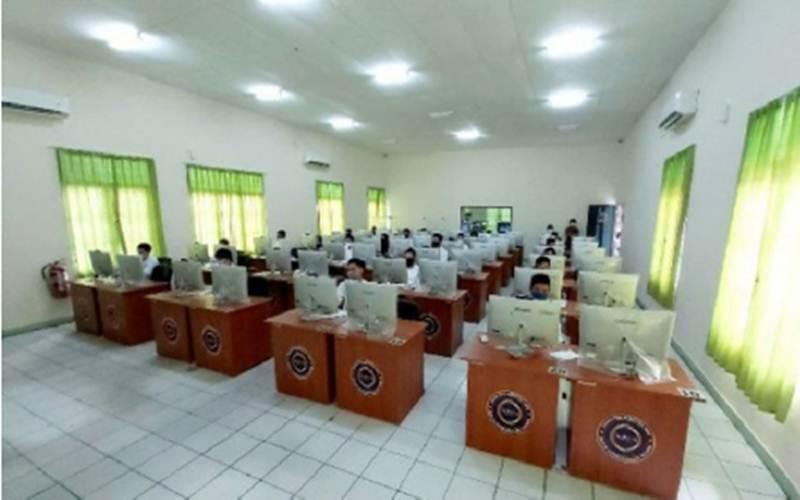 Ruangan di UPT BKN Palangka Raya yang akan digunakan untuk SKB penerimaan CPNS Pemprov Kalteng tahun 2020. - Antara/Muhammad Arif Hidayat