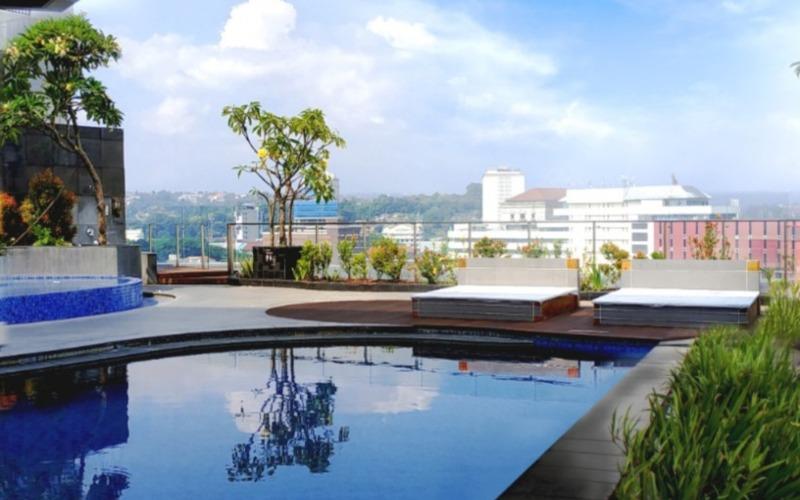 Kolam renang di PO Hotel Semarang terdiri atas dua jenis kolam yaitu untuk dewasa dengan kedalaman 130 cm dan untuk anak/anak dengan kedalaman 50 cm. (Foto: istimewa)