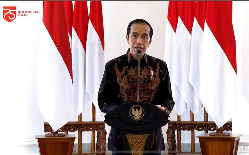 Presiden Joko Widodo memberikan arahan dalam Aksi Nasional Pencegahan Korupsi dari Istana Kepresidenan Bogor, Jawa Barat, Rabu (26/8 - 2020). Youtube Setpres