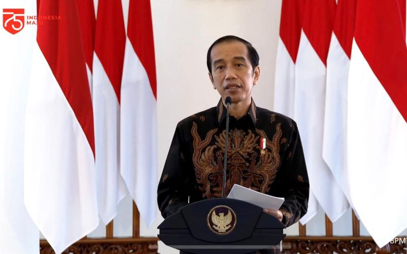 Presiden Joko Widodo dalam acara Peresmian Gedung Sekolah Vokasi Universitas Diponegoro secara virtual dari Istana Kepresidenan Bogor, Jawa Barat, Rabu (26/8 - 2020) / Youtube Setpres