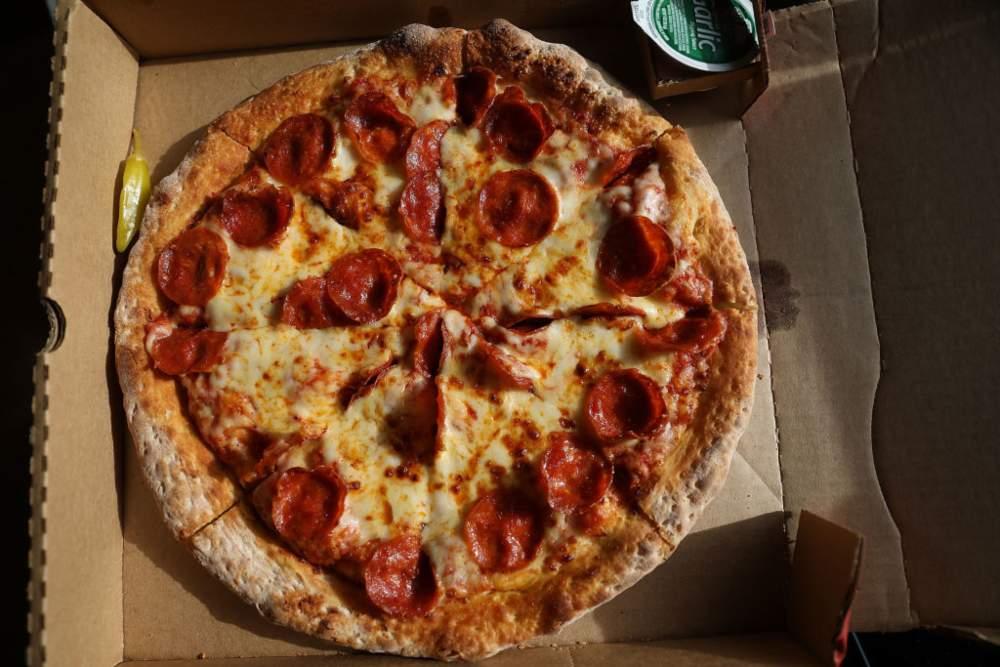 Pizza Papa John's mencatatkan peningkatan penjualan di tengah pandemi virus corona (Covid-19). - ilustrasi