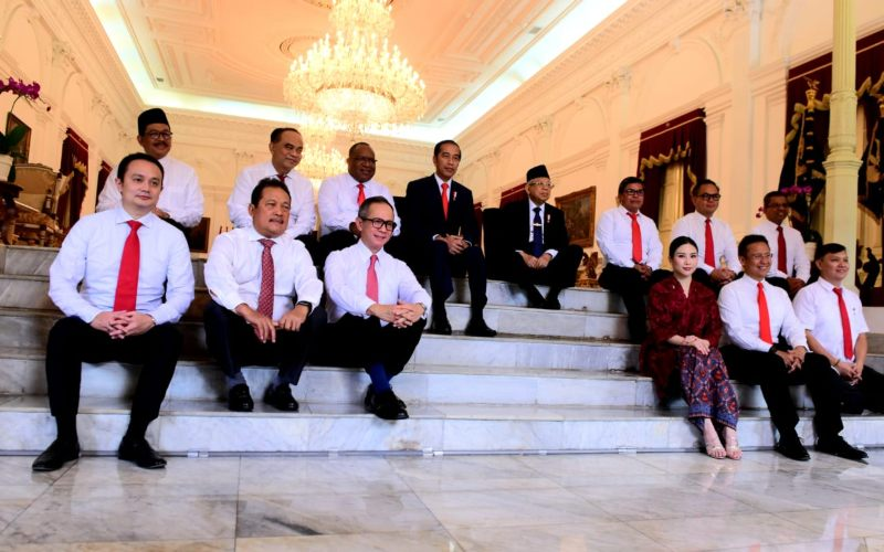 Wakil Menteri Kabinet Indonesia Maju saat diumumkan oleh Presiden Joko Widodo dan Wakil Presiden Ma'ruf Amin pada Oktober 2019. - Kominfo