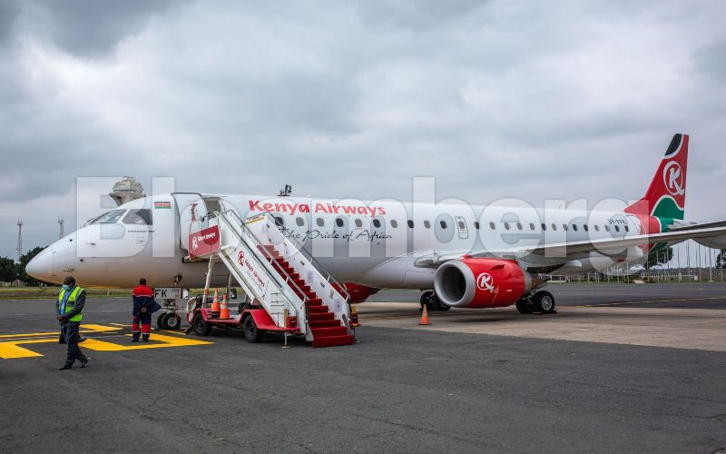 Pesawat milik Kenya Airways.  - Bloomberg