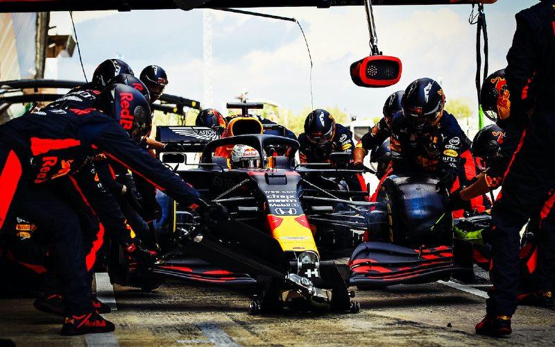 Max Verstappen dari tim Red Bull berhasil meraih podium kedua di Grand Prix Spanyol.  - Honda