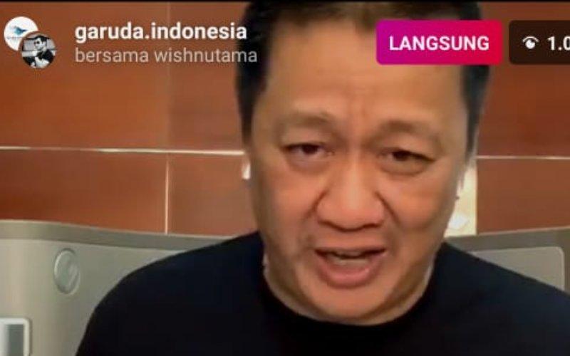 Direktur Utama Garuda Indonesia Irfan Setiaputra dalam live instagram garuda.indonesia, Jumat (28/8 - 2020)