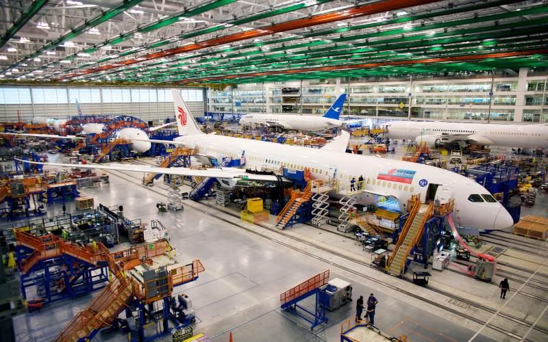 Boeing Co. Dreamliner 787.  - Bloomberg