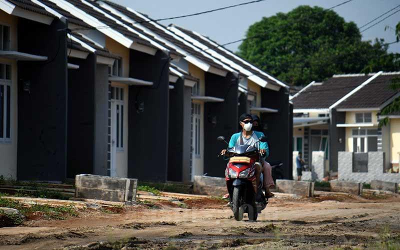 Ilustrasi proyek pembangunan rumah bersubsidi./Bisnis - Abdurachman