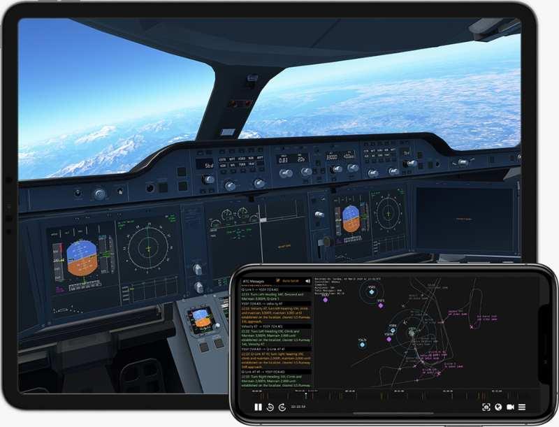 Game Infinite Flight memakai data navigasi dari NAVBLUE, mulai dari titik arah, sistem navigasi radio. - istimewa