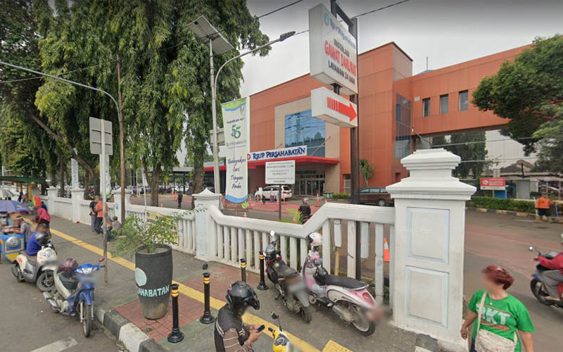 Rumah Sakit Umum Pusat (RSUP) Persahabatan di Jakarta Timur. Foto: Google Maps April 2019