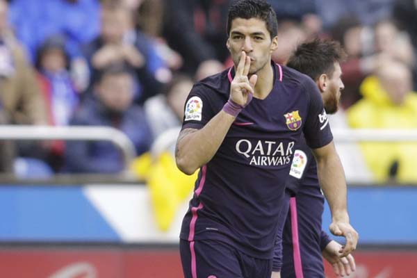 Striker FC Barcelona Luis Suarez - Reuters