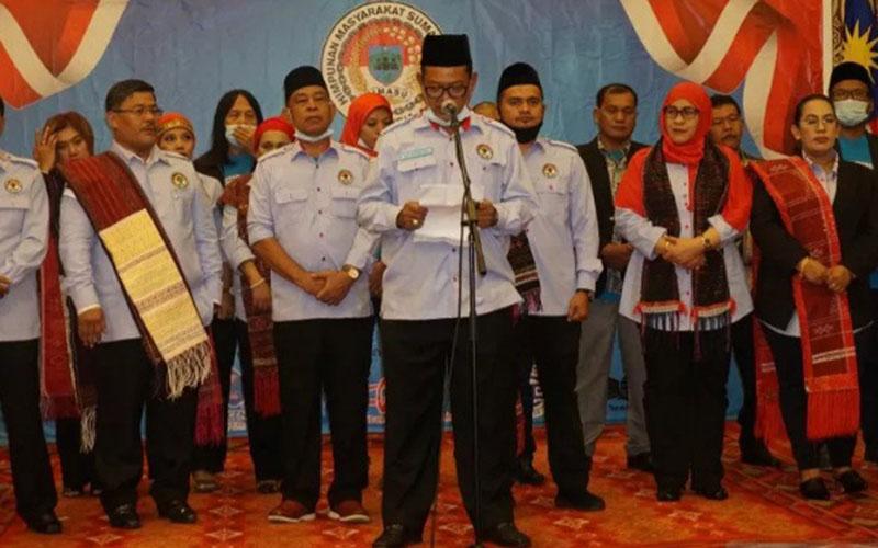 Pendeklarsian Himasu di Kuala Lumpur, Malaysia, pada Minggu (30/8/2020). - Antara