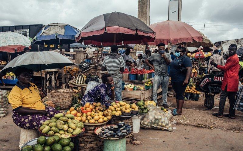 Pasar tradisional di Abuja, Nigeria -  Bloomberg