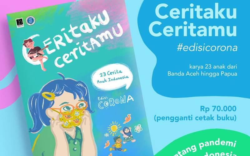 Poster buku Ceritaku Ceritamu edisi Corona - Istimewa