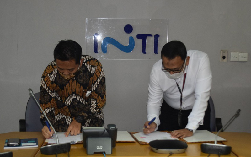 Penandatanganan Nota Kesepahaman tentang Kerja Sama Pembangunan, Pengembangan, dan Pengelolaan Infrastruktur antara PT INTI (Persero) dan PT PP (Persero) Tbk.  - Dok. Istimewa