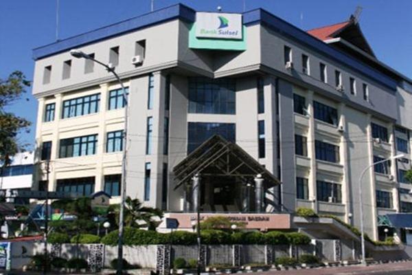 Kantor Bank Sulselbar di Makassar, Sulawesi Selatan. - Ilustrasi