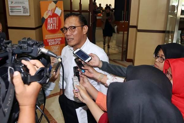 Kepala Badan Pusat Statistik (BPS) Kecuk Suhariyanto menjawab pertanyaan wartawan seusai paparan di Jakarta, Kamis (1/3/2018). - JIBI/Abdullah Azzam