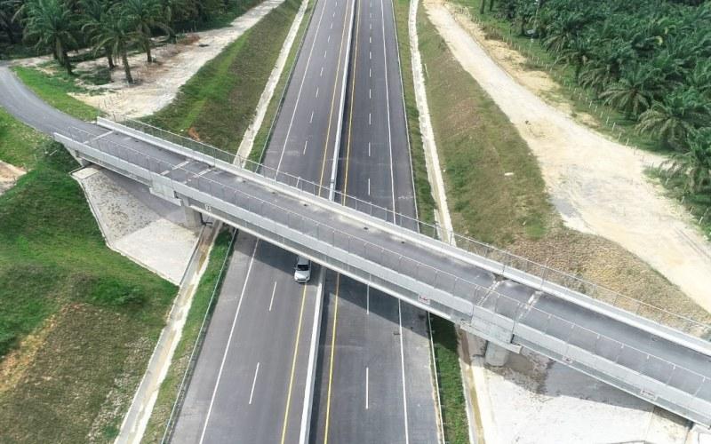 Salah satu ruas jalan tol Pekanbaru-Dumai. - Istimewa/Hutama Karya