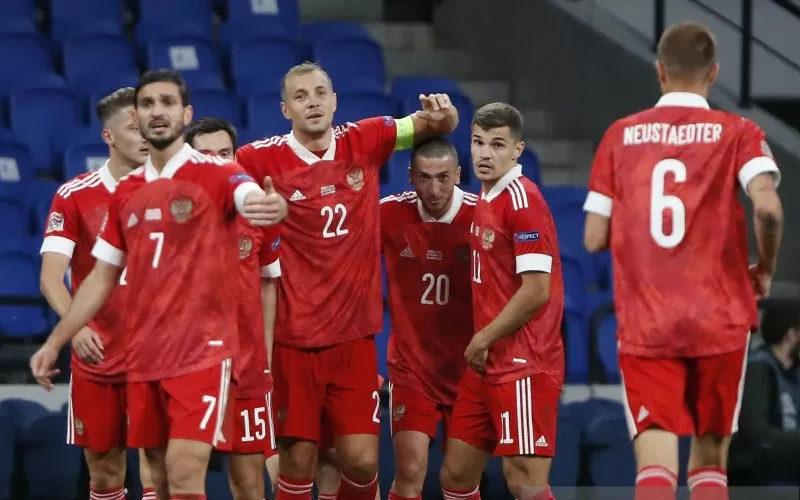 Timnas Rusia melawan Serbia - Antara