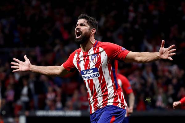 Striker Atletico Madrid Diego Costa - Reuters/Juan Medina