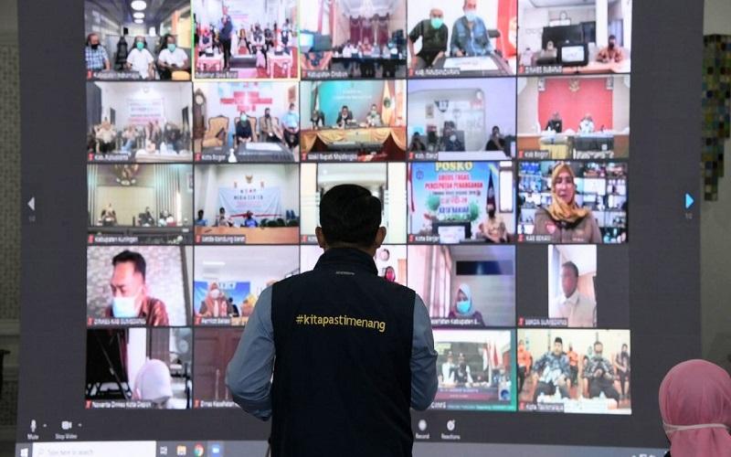 Gubernur Jabar Ridwan Kamil saat rakor penanganan Covid-19 - Istimewa