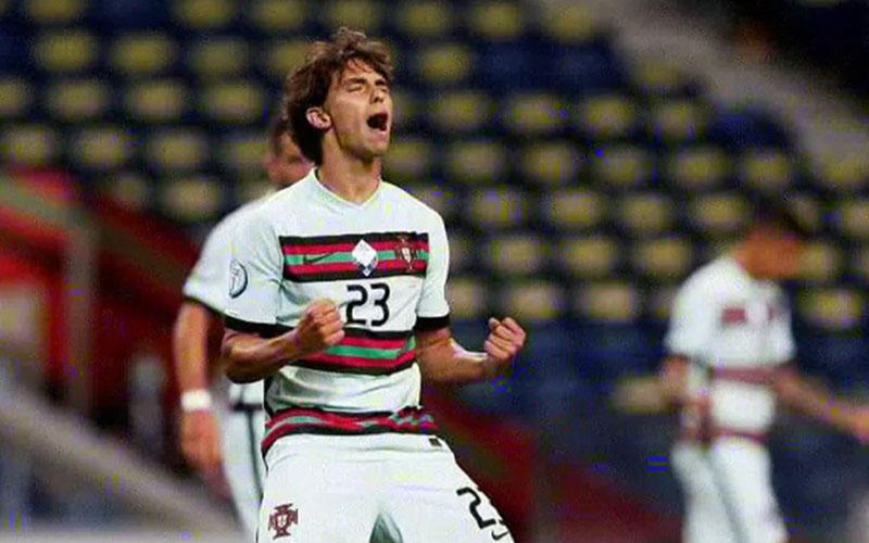 Penyerang Timnas Portugal Joao Felix setelah menjebol gawang Kroasia./Antara - Reuters