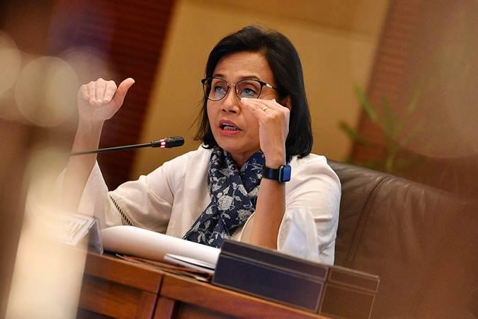 Menteri Keuangan Sri Mulyani memberikan konferensi pers APBN KiTa di kantor Kemenkeu, Jakarta, Kamis (16/5/2019). - ANTARA/Sigid Kurniawan