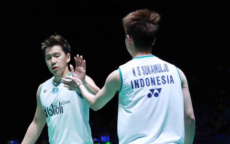 Ganda nomor satu dunia, Kevin Sanjaya-Marcus Fernaldi Gideon - Badminton Indonesia