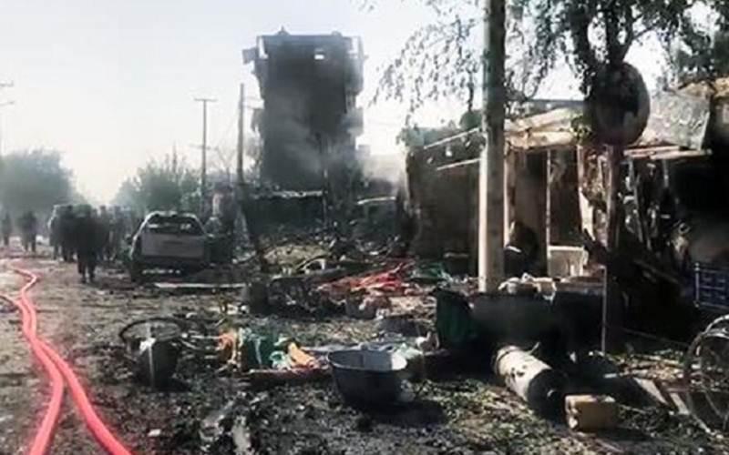 Asap mengepul akibat ledakan bom di Afghanistan - southfront.org