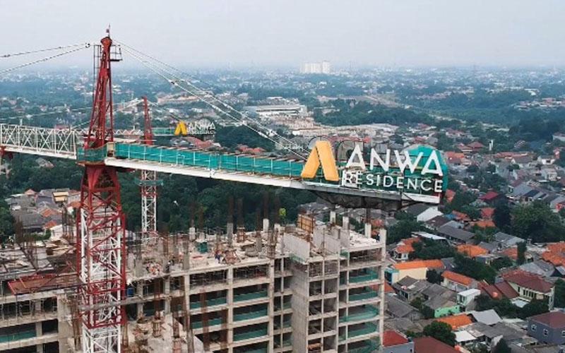 Proses pembangunan Anwa Residence. - Istimewa