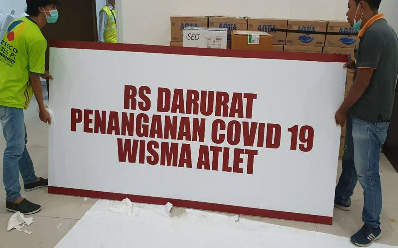 Wisma Atlet di Kemayoran Jakarta Pusat jadi rumah sakit darurat penanganan Cpovid-19 di Jakarta. - Istimewa