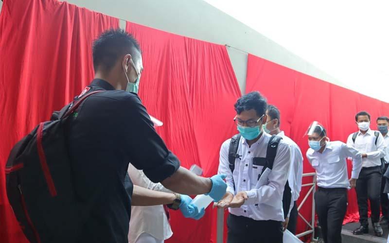 Sebanyak 151 peserta mengikuti tes Seleksi Kompetensi Bidang (SKB) CPNS 2019 Kabupaten Ogan Komering Ilir (OKI), Sumatra Selatan, setelah berhasil meraih skor tertinggi pada tahapan sebelumnya. - Istimewa
