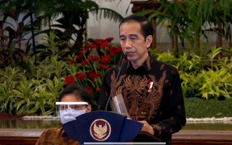 Presiden Joko Widodo saat membukasidang kabinet paripurna untuk penanganan kesehatan dan pemulihan ekonomi tahun 2021, di Istana Negara, Jakarta, Senin (7/9 - 2020)  -  Youtube Setpres