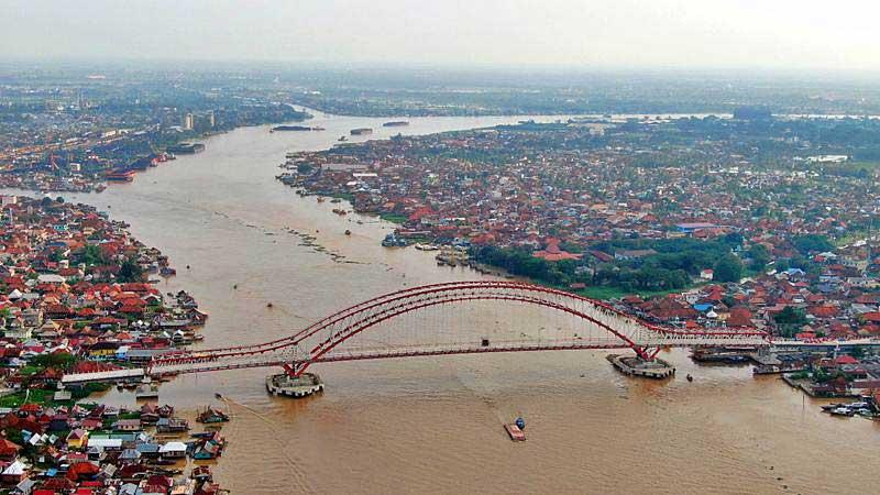 Foto udara Jembatan Musi IV di Palembang, Sumatra Selatan, Kamis (2/5/2019). - Bisnis/Abdullah Azzam