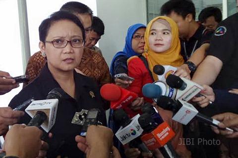 Menlu Retno LP Marsudi di Kantor Presiden, Rabu (15/4/2015). - JIBI/Akhirul Anwar
