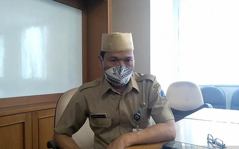 Kepala Suku Dinas Tenaga Kerja dan Transmigrasi Jakarta Barat Ahmad Ya'la di Jakarta, Senin (14/9/2020). - Antara
