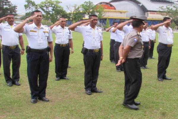 Satuan tugas pengamanan berlatih - Istimewa