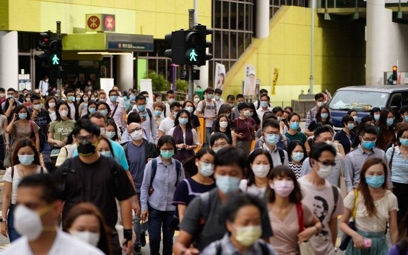 Pejalan kaki di Hong Kong - Bloomberg