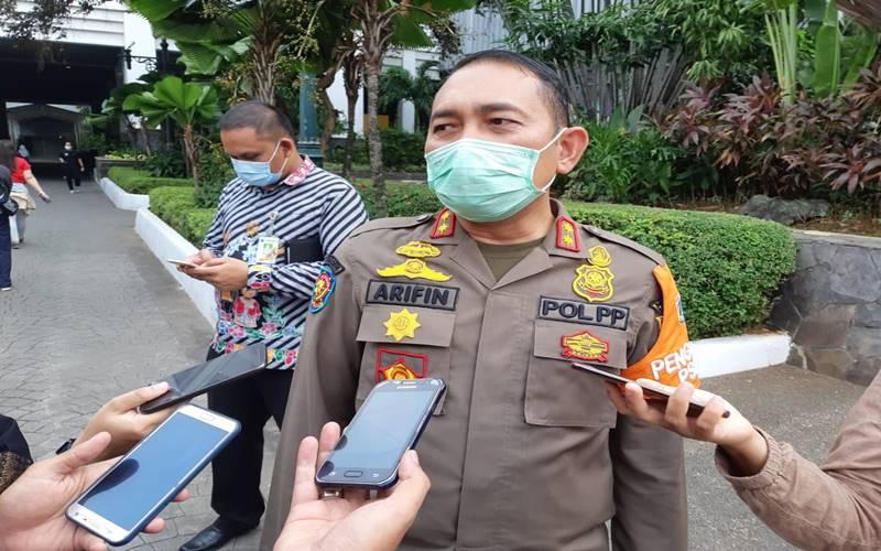 Kepala Satpol PP DKI Jakarta Arifin seusai menghadiri rapat pimpinan di Balai Kota DKI Jakarta pada Kamis (10/9/2020). JIBI - Bisnis/Nyoman Ari Wahyudi